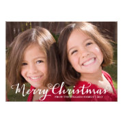 Classic Merry Christmas Photo Card
