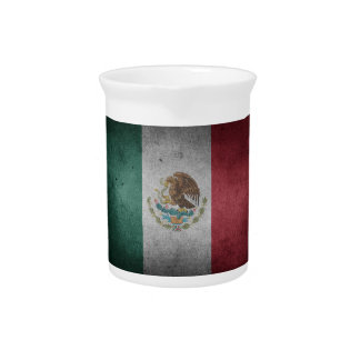 Classic Mexican Flag Beverage Pitcher
