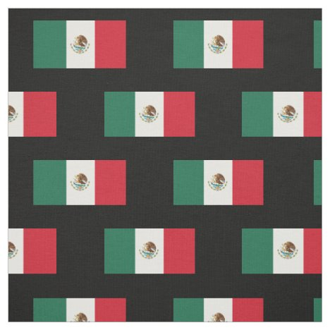 Classic Mexican Flag Fabric
