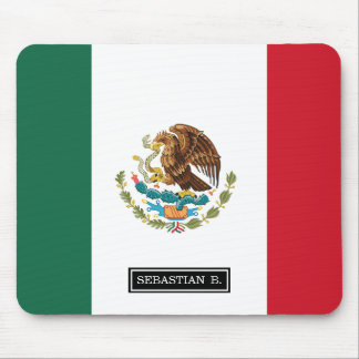 Classic Mexican Flag Mouse Pad