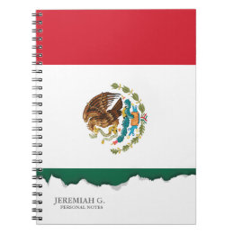 Classic Mexican Flag Notebook