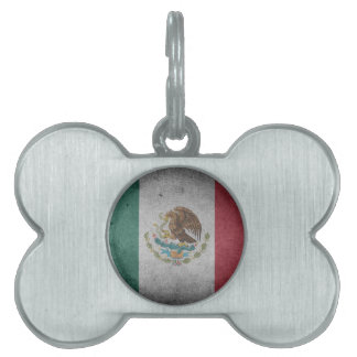 Classic Mexican Flag Pet Name Tag