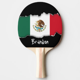 Classic Mexican Flag Ping-Pong Paddle