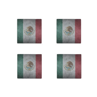 Classic Mexican Flag Stone Magnet