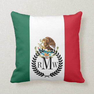 Classic Mexican Flag Throw Pillow