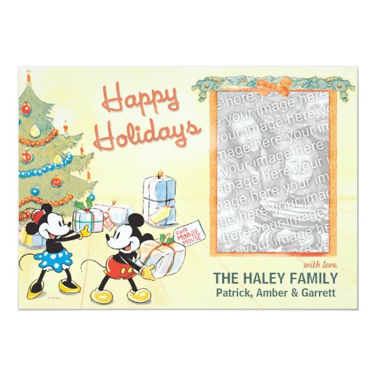 Classic Mickey and Minnie: Happy Holidays Card