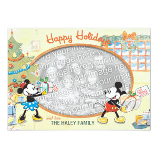 Classic Mickey and Minnie: Happy Holidays Card Announcements