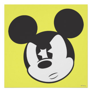 Classic Mickey | Angry Head Poster