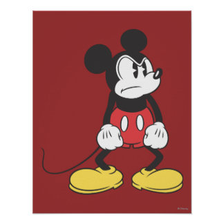 Classic Mickey | Angry Pose Poster