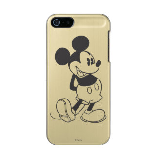 Classic Mickey | Black and White Metallic Phone Case For iPhone SE/5/5s