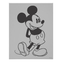 Classic Mickey | Black and White Poster