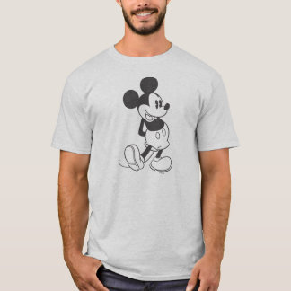 Classic Mickey | Black and White T-Shirt