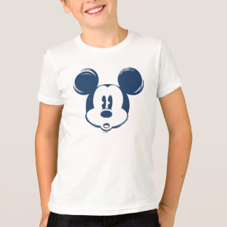 Classic Mickey   Blue Head T-Shirt