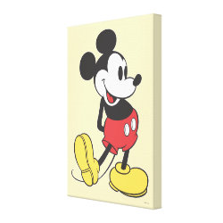 Premium Wrapped Canvas with Classic Mickey Mouse design