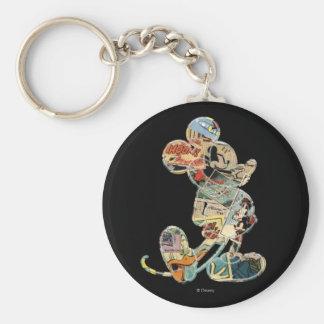 Classic Mickey | Comic Art Basic Round Button Keychain