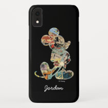 Classic Mickey | Comic Silhouette - Add Your Name iPhone XR Case