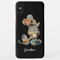 Classic Mickey | Comic Silhouette - Add Your Name iPhone XS Max Case