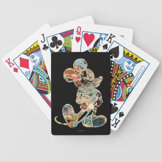 Classic Mickey | Comic Silhouette Bicycle Playing Cards