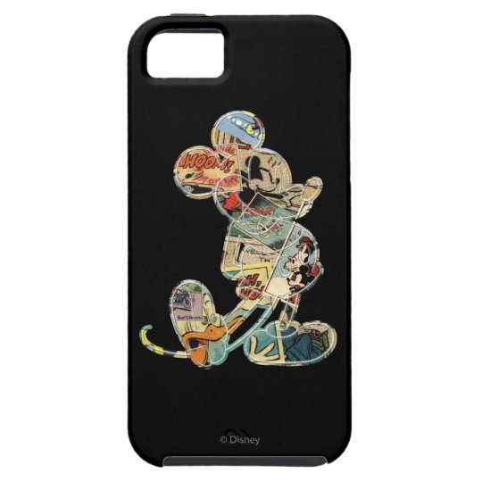 Classic Mickey   Comic Silhouette iPhone SE/5/5s Case