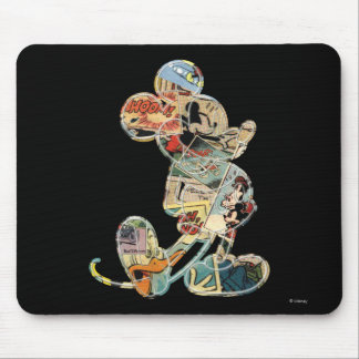 Classic Mickey   Comic Silhouette Mouse Pad