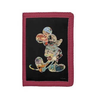 Classic Mickey | Comic Silhouette Tri-fold Wallet
