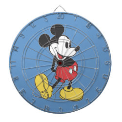 Megal Cage Dart Board with Classic Mickey Mouse design