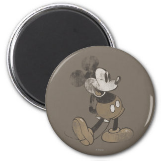 Classic Mickey | Distressed 2 Inch Round Magnet