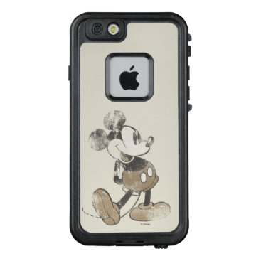 Disney Themed Classic Mickey | Distressed LifeProof FRĒ iPhone 6/6s Case
