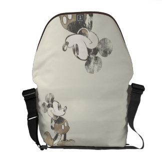 Classic Mickey   Distressed Messenger Bag