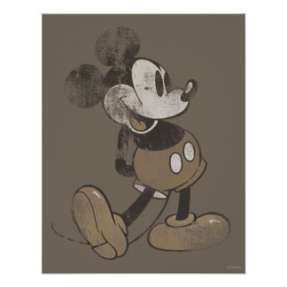 Classic Mickey | Distressed Poster