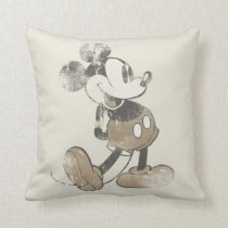 Classic Mickey | Distressed Throw Pillow
