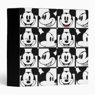 Classic Mickey Face 3 Ring Binders
