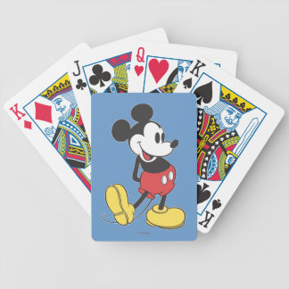 Classic Mickey   Hands Behind Back Bicycle Playing Cards