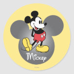 Classic Mickey   Head Icon Classic Round Sticker