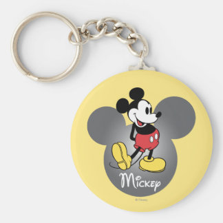 Classic Mickey   Head Icon Keychain
