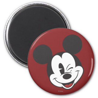 Classic Mickey | Head Tilt Wink 2 Inch Round Magnet
