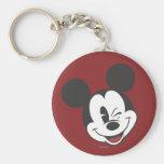 Classic Mickey   Head Tilt Wink Keychain