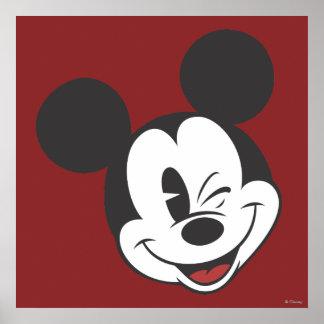 Classic Mickey | Head Tilt Wink Poster