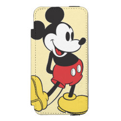 Incipio Watson™ iPhone 5/5s Wallet Case with Classic Mickey Mouse design