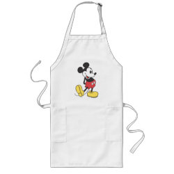 Long Apron with Classic Mickey Mouse design