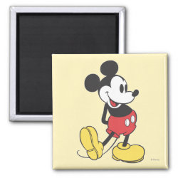 Square Magnet with Classic Mickey Mouse design
