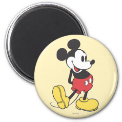 Round Magnet with Classic Mickey Mouse design