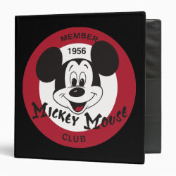 Avery Signature 1' Binder with Mickey Mouse Club Logo design