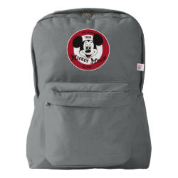 American Apparel Backpack with Mickey Mouse Club Logo design
