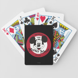 Playing Cards with Mickey Mouse Club Logo design