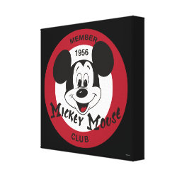 Premium Wrapped Canvas with Mickey Mouse Club Logo design