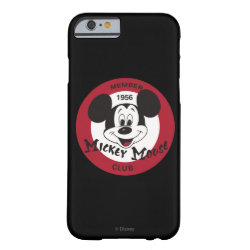 Case-Mate Barely There iPhone 6 Case with Mickey Mouse Club Logo design