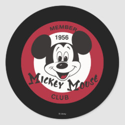 Round Sticker with Mickey Mouse Club Logo design