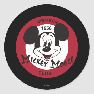 Classic Mickey   Mickey Mouse Club Classic Round Sticker