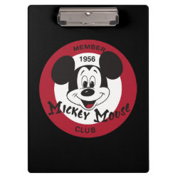 Clipboard with Mickey Mouse Club Logo design